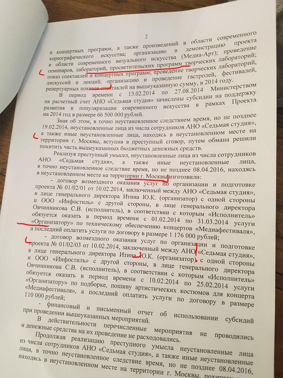 Дело Серебренникова - обыск