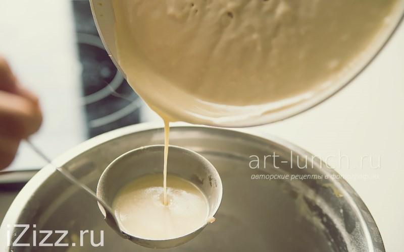 Тонкие блины на молоке - лишнее тесто