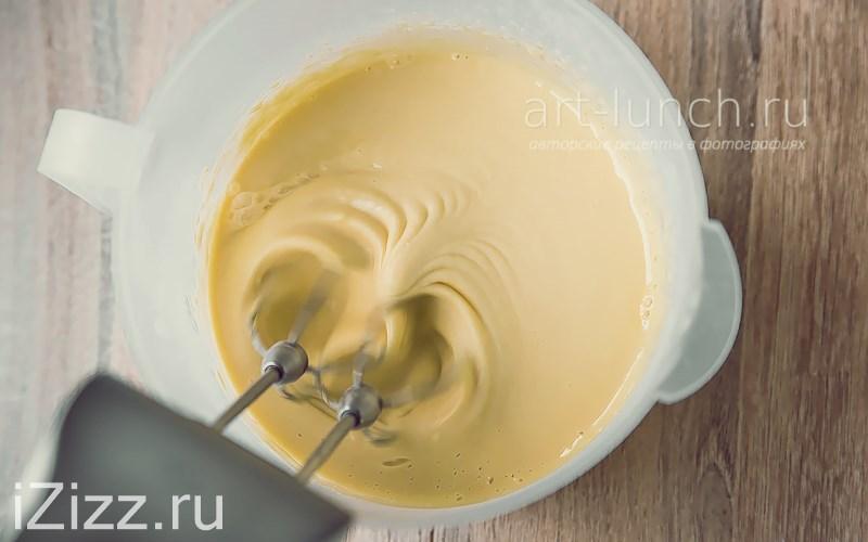Тонкие блины на молоке - перемешивание