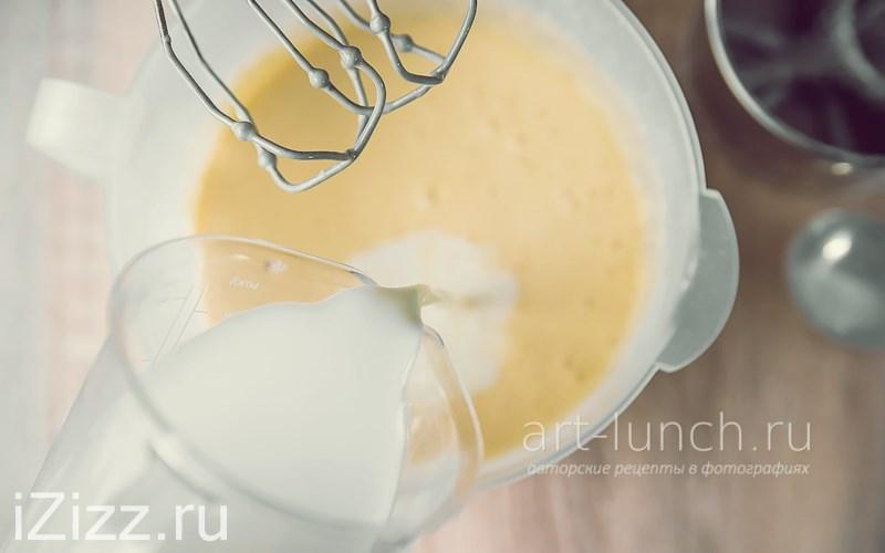 Тонкие блины на молоке - консистенция