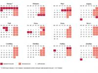 Календарь рабочих и праздничных дней 2018