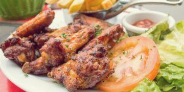 Куриные крылышки в аджике