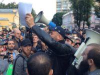 Митинг мусульман в Москве у посольства