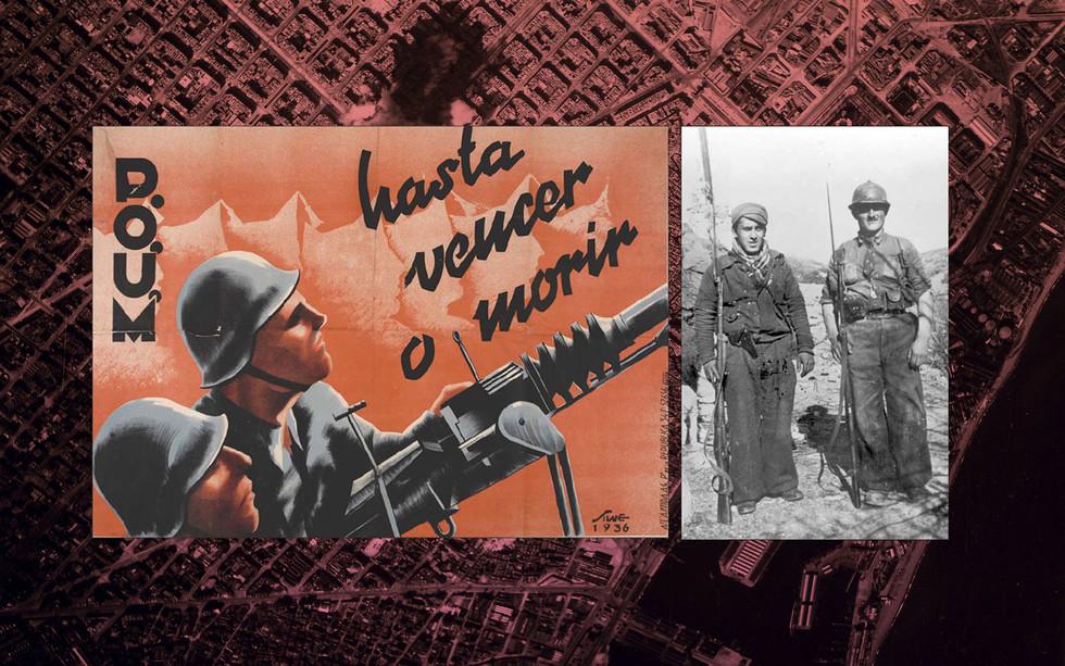 Плакат ПОУМ, 1936 год. Бойцы Испанской республиканской армии