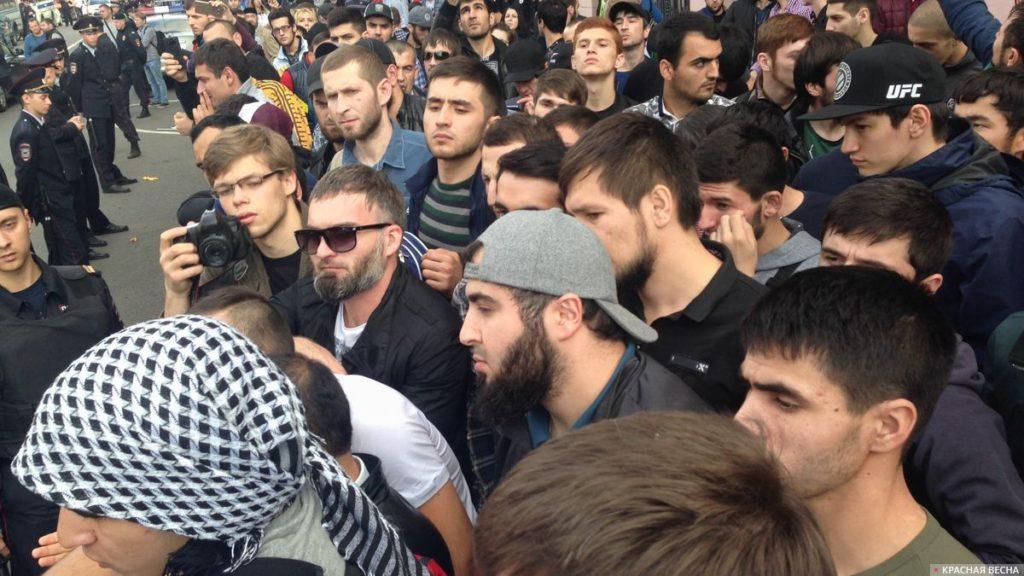 Мьянма - митинг мусульман в Москве
